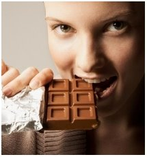 How to eat chocolate when no one is watching.